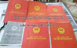 Dịch vụ làm sổ đỏ Quận Tây Hồ Hà Nội - liên hệ ngay 096.558.9191